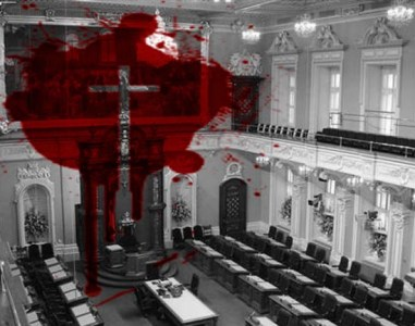 Pour l'éjection du crucifix à l'Assemblée nationale