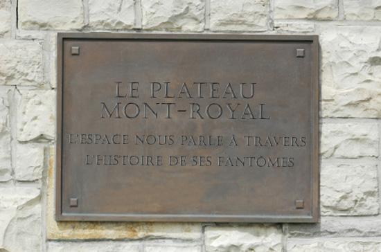Plaque historique du Plateau-Mont-Royal