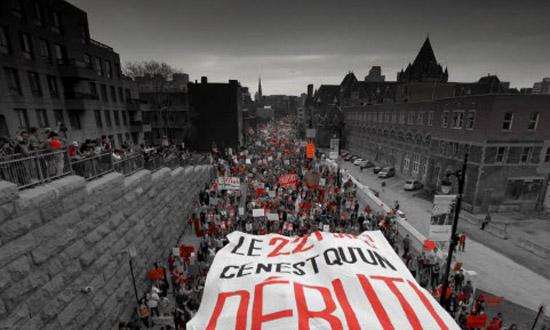 Manifestation nationale contre la hausse des frais de scolarité, le 22 mars 2012