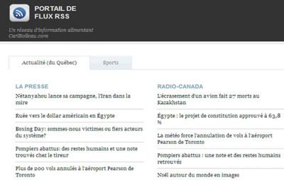 Un réseau d'information alimentant CarlBoileau.com