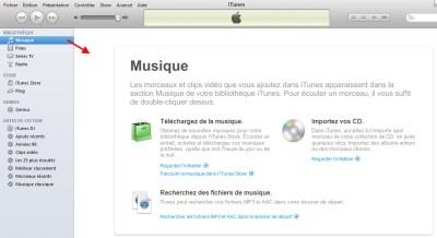 La librairie de vos fichiers musicaux est ici dans iTunes