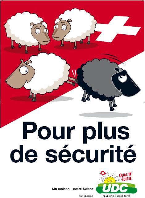 affiche raciste (moutons) de l'UDC