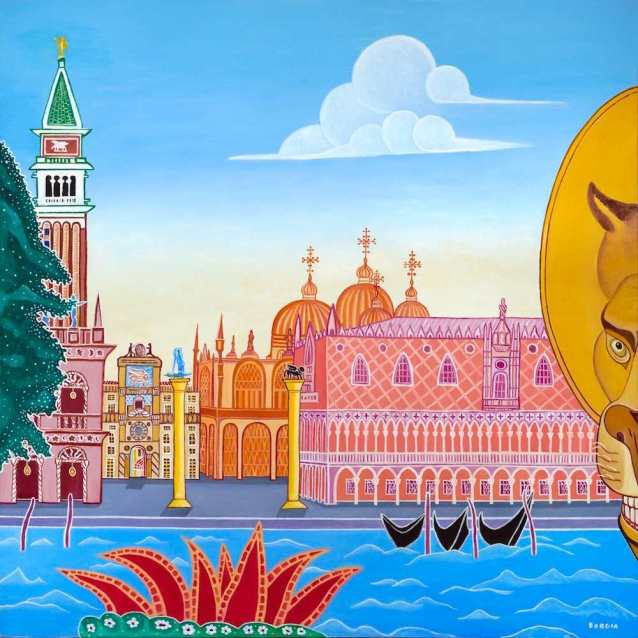 St Marks Square, 48 x 48 inches