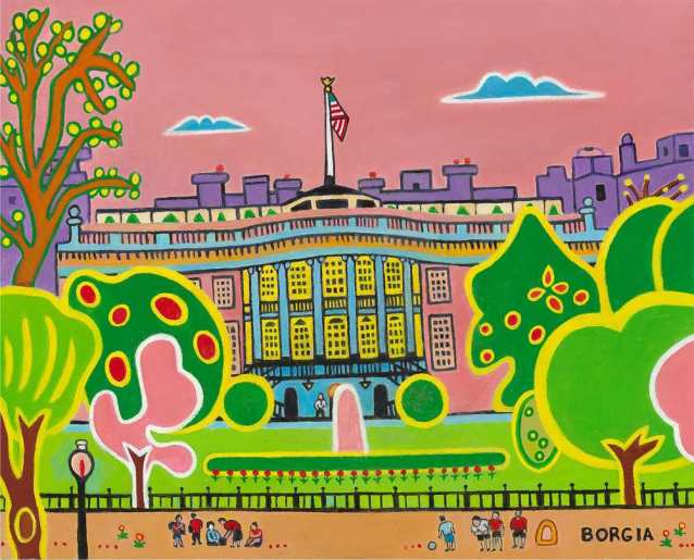 The South Lawn, 16x20 inches