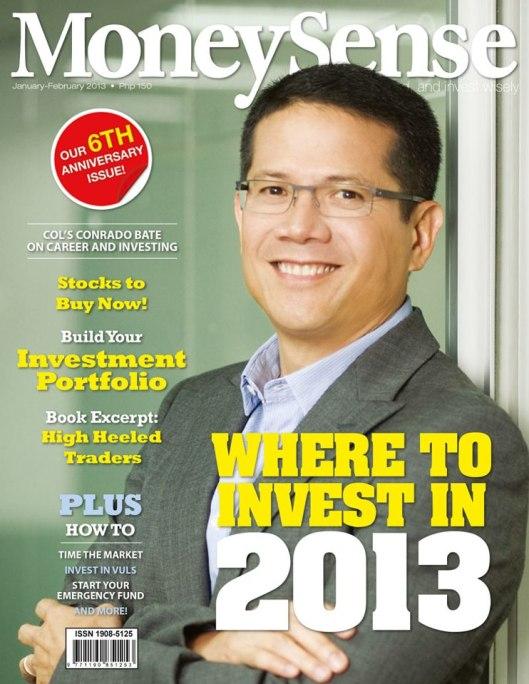 #3 Money Sense Jan 2013Front  Cover