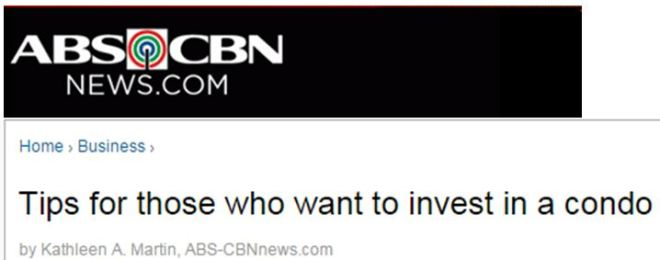 ABS CBN News Tips for Condo Investors 2
