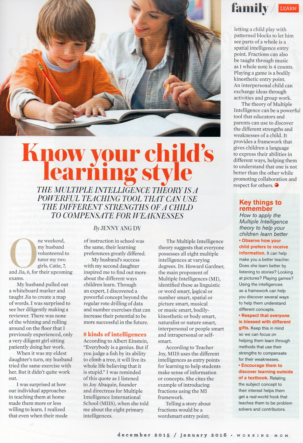 Your Child's Learning Style 001