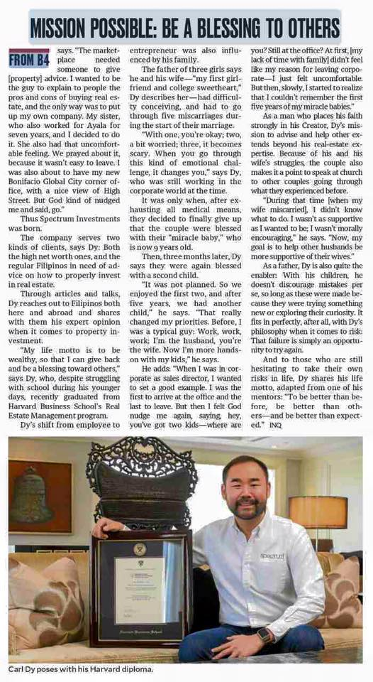Property Guru Carl Dy Spectrum Philippines Property PDI Philippine Daily Inquirer Nelle Tayao Juego