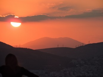 On their last night in Athens, we took in the sunset from the Acropolis.