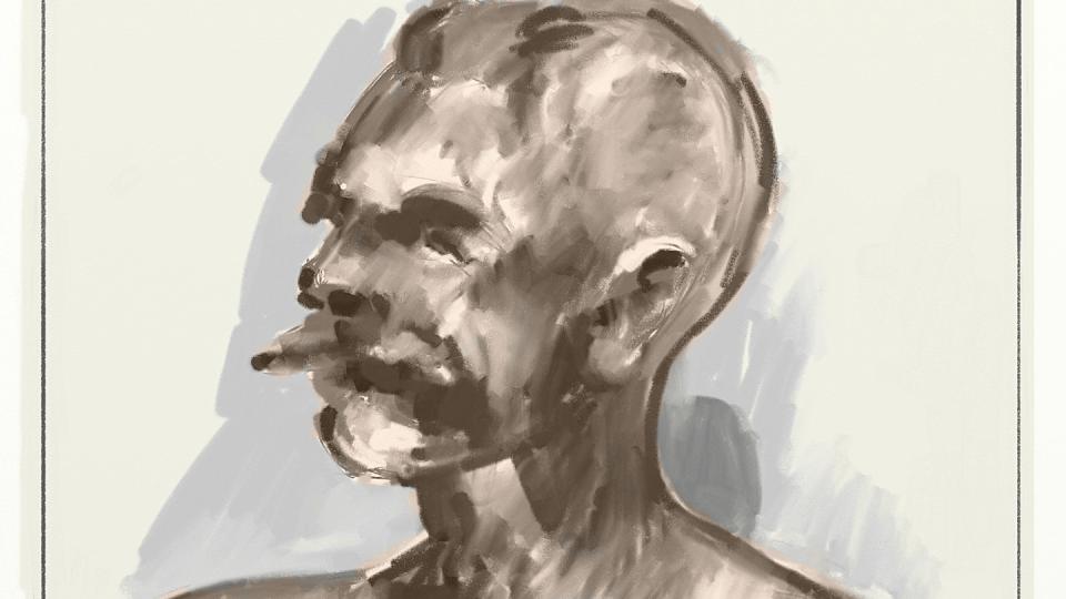 Sketch of Rodin Bust of Étienne Clémentel