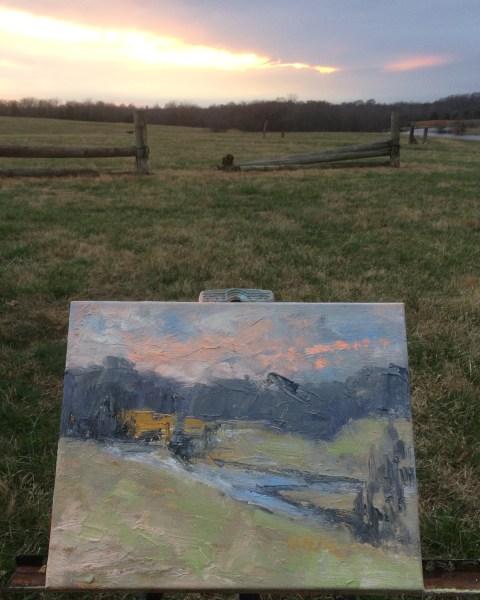 Orange Streak Sunset at Shelby Farms