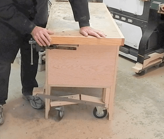 Retracting Casters Work Bench Plans Innovative Tools Ideas