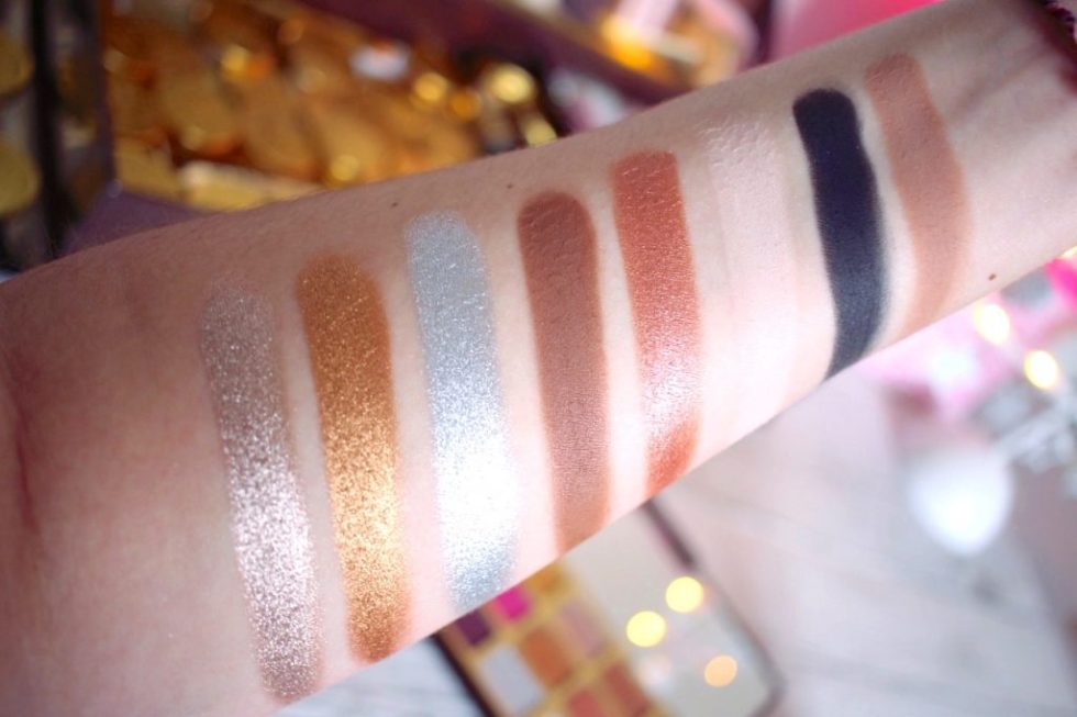 palette chocolate gold too faced avis swatch