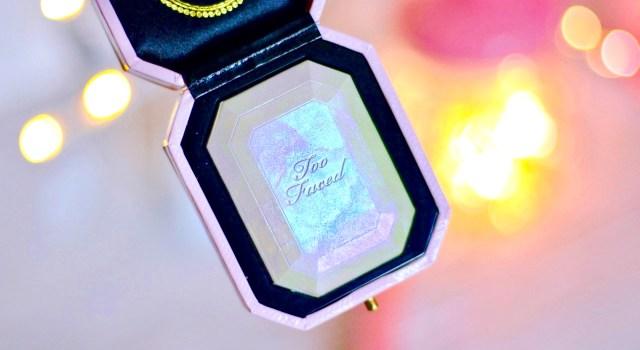 j'ai testé le Diamond highlighter Too faced mon avis swatch