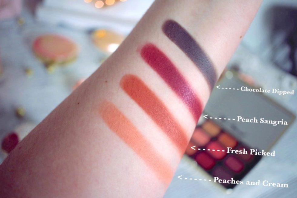j'ai testé la just peachy mattes too faced avis swatch makeup