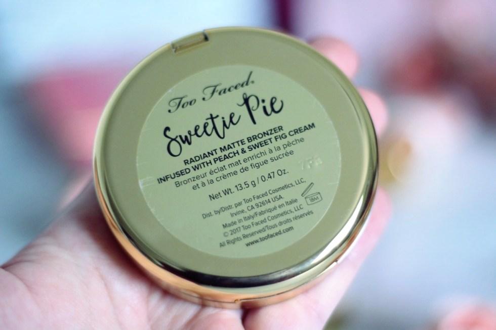 sweetie pie nouveau bronzer Too faced avis