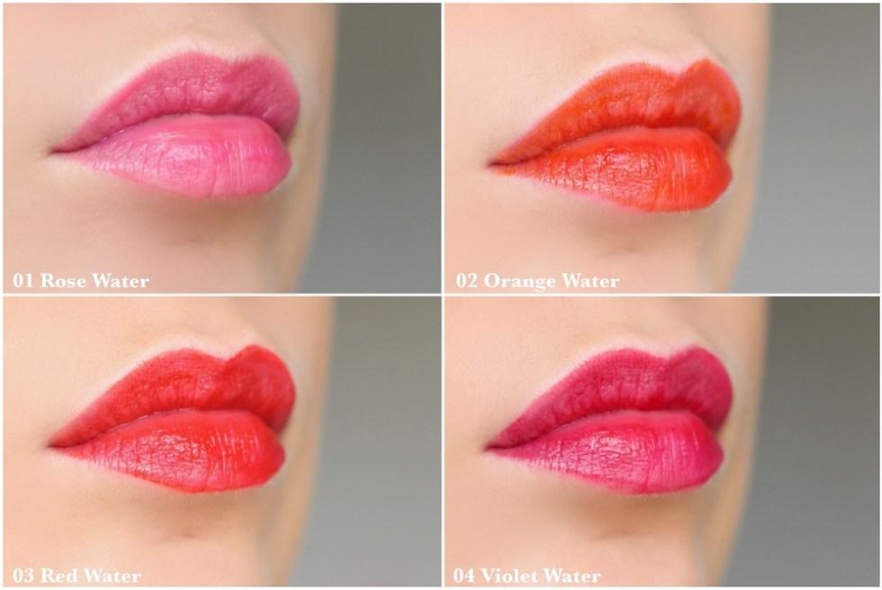 eau à lèvres clarins avis swatches