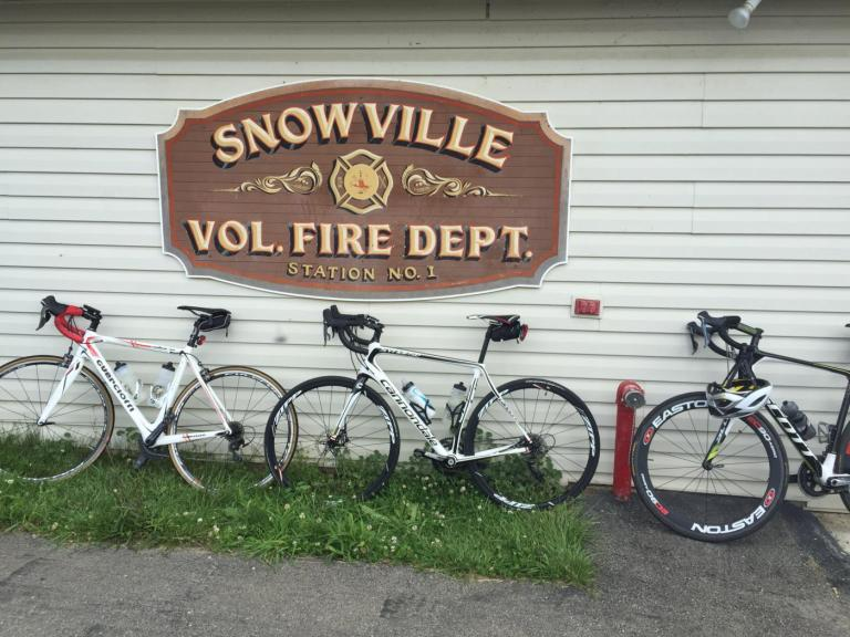 The rest stop at the Snowville Fire Dept.