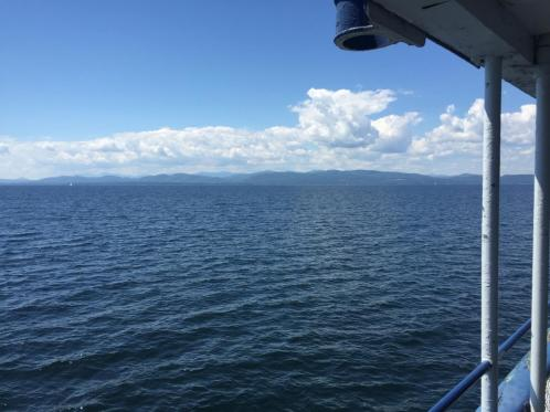 The view from the ferry from Burlington, Vt. to Port Kent, NY