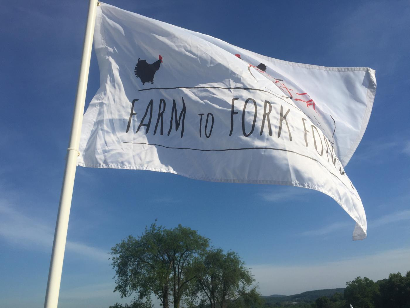 The Farm to Fork Fondo Flag