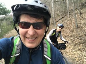 A trail selfie