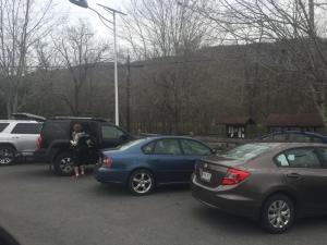 Trailhead parking at Caldwell