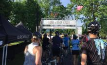 We joined 400 other riders for the start of the Farm to Fork Fondo Shenandoah.
