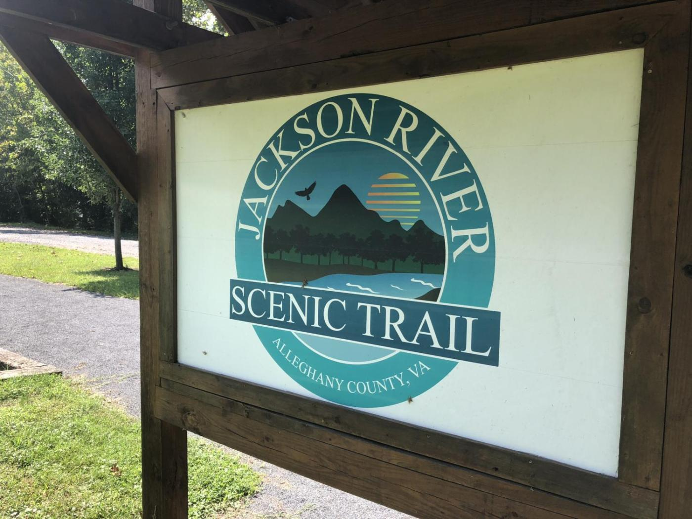 Jackson River Scenic Trail Sign Near Covington, Va.