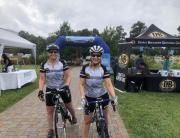 Mary Carlin and Barbara Butcher after completing the Devils Backbone ride.