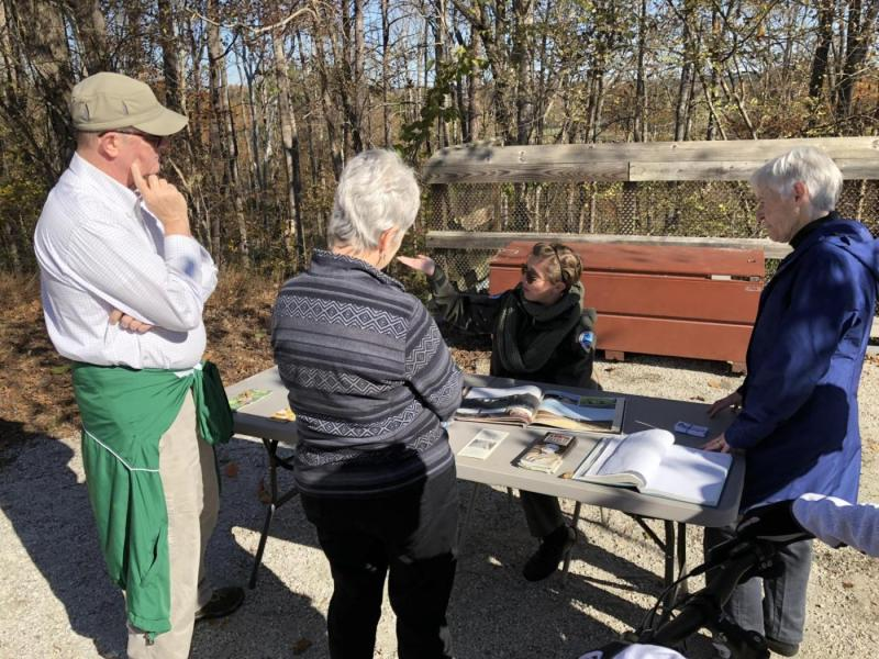 A High Bridge State Park interpreter shared the story of Lee's retreat over the bridge.