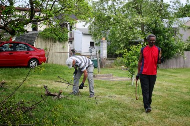 Tree hauling at Lincoln Ave. parking lot