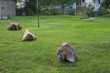boulders from installation will be used for natural play area