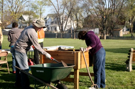 The new planters built by the My Brother's Keeper project were finally planted.