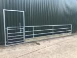 20ft Sheep / Cattle Feed Barrier with Pedestrian Door