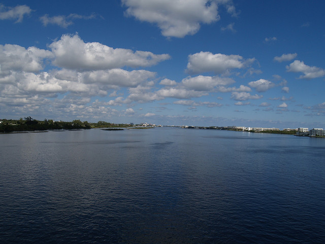 View from the bridge on Lake Ave, Lake Worth