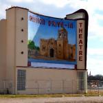 Restored Mission Drive-In mural
