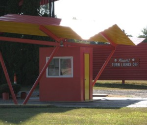Ticket booth at the Capri Drive-In