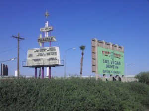 Las Vegas 6 Drive-In Theatre signs
