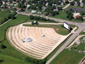 Aerial view of McHenry Outdoor Theater