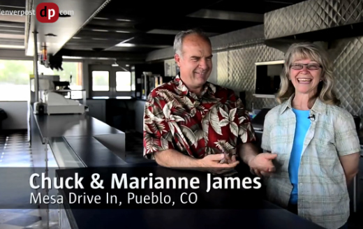 Chuck and Marianne James of the Mesa Drive-In