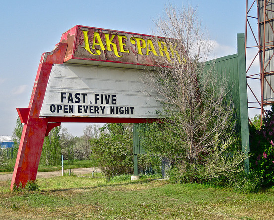 Old Lake Shore Drive-In marquee