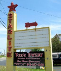 Starlite Drive-In marquee