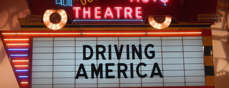 Driving America drive-in type sign at The Henry Ford Museum in Dearborn MI