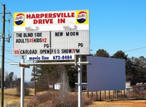 Harpersville Drive-In sign