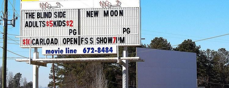 Harpersville Drive-In sign