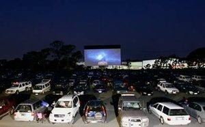Cars at a drive-in theater
