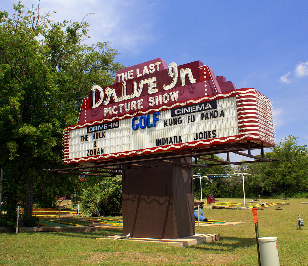 Marquee for The Last Drive-In Picture Show