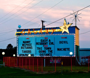 Galaxy Drive-In marquee