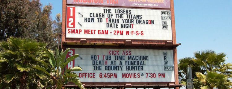 Mission Tiki Drive-In marquee