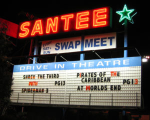 Santee Drive-In marquee
